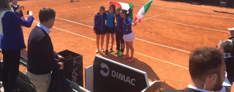 DIMAC Sponsor della sfida di Fed Cup della Nazionale Italiana